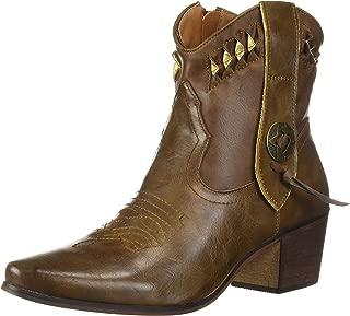 YOKI Women's Debra-13 Western Boot, Brown, 8.5 Medium US