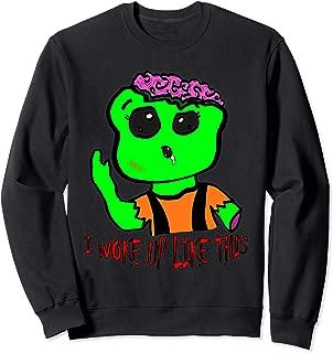 Green Zombie - I woke up like this - Great Halloween Gift Sweatshirt