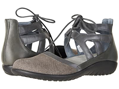 Naot Kata (Gray Iguana Nubuck/Shadow Gray Nubuck/Tin Gray Leather) Women