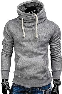 spyman Fashion-hoodies Pullover Solid Color Turtleneck Sportswear Men's Tracksuits Moleton S-XXL