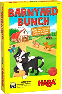 HABA Barnyard Bunch - A Cooperative Dice Rolling Racing Game for Ages 4 and Up (Made in Germany)
