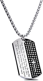 American Soldier Dog Tag w/Isaiah 41:10 -