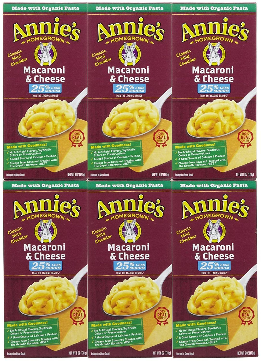 online New product! New type shopping Annie's Homegrown Lower Sodium Macaroni 6 oz Cheese pk