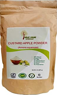 100% Natural Custard-Apple Powder, 2 LB, Eco-friendly Resealable pouch, No Artificial Flavors/Preservatives/Fillers, Halal, Kosher, Vegan-Friendly, Non-GMO