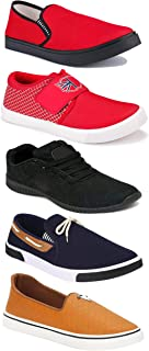 WORLD WEAR FOOTWEAR Sports Running Shoes/Casual/Sneakers/Loafers Shoes for Men Multicolor (Combo-(5)-1219-1221-1140-417-772)