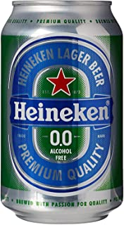 Heineken 0.0% Non-Alcohol, Alcohol Free Beer, Great Taste, Zero Alcohol, 11.2 Fl Oz   Case of 24 Cans