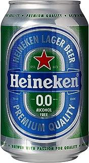 Heineken 0.0% Non Alcohol Beer - Great Taste, Zero Alcohol, 11.2 Fl Oz | Case of 24