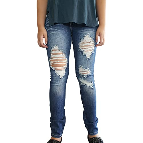 3d67dffdc9d 7. Pink Ice Women s Juniors Low Rise Ripped Straight Leg Machine Jeans
