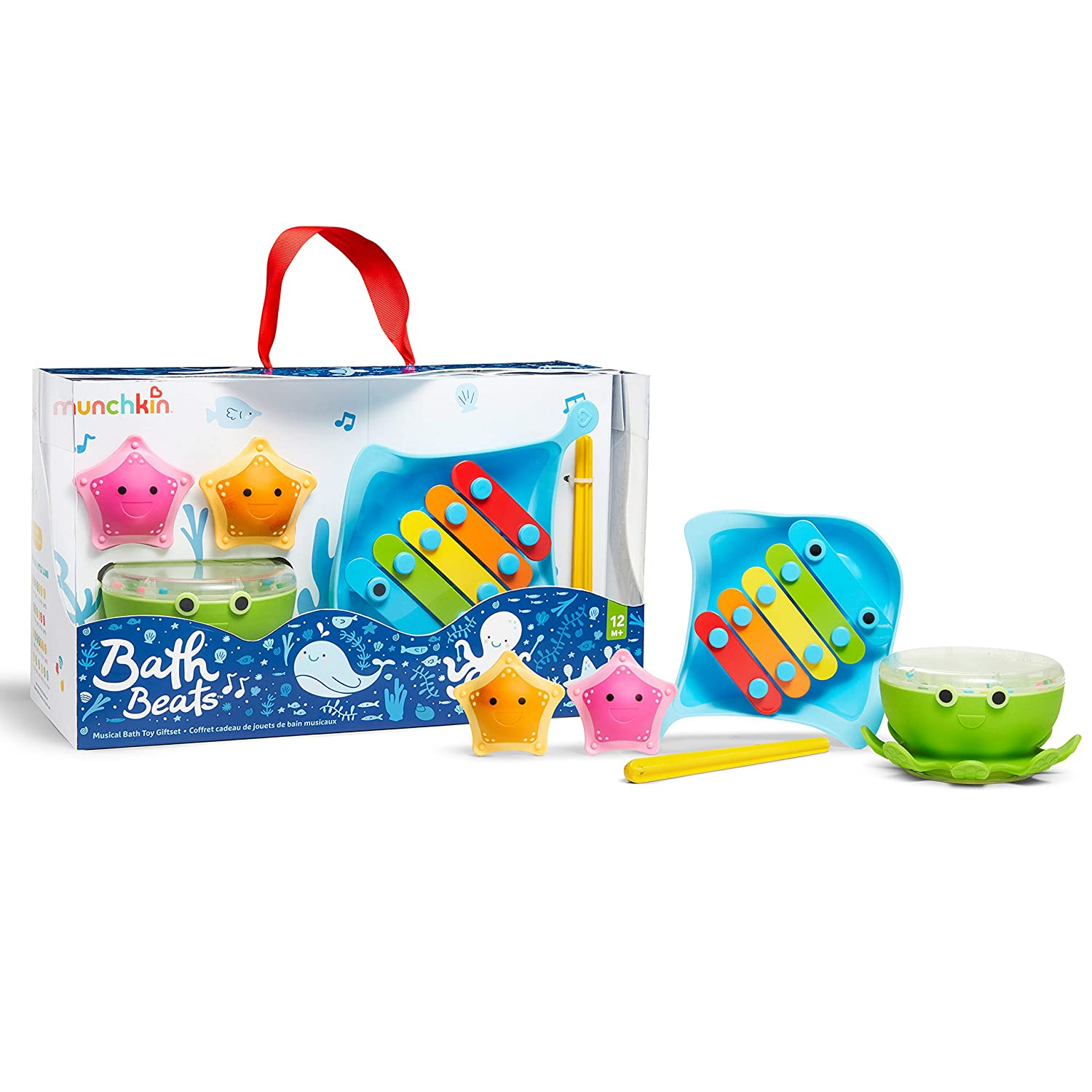 Munchkin Bath Superlatite Beats Musical Toy Gift Includes Xylophon 67% OFF of fixed price Set