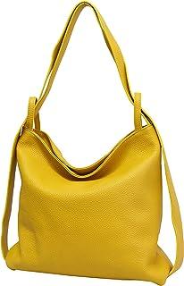 AmbraModa Bolsos de mano de cuero para mujer 2-en-1 con bolsos mochila bolsos de hombro GL019