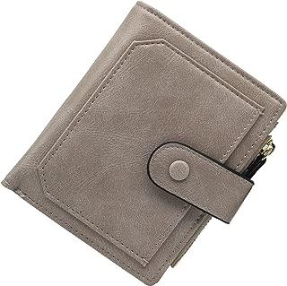 Uche Small Wallets for Women Bifold Slim Coin Purse Zipper ID Card Holder