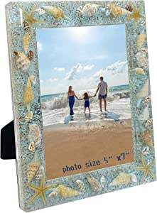 WalcoHome 5x7 Beach Ocean Memories Meets the Moment in these Perfect Backdrops! Life's a Beach Wall & Desktop Picture Frame