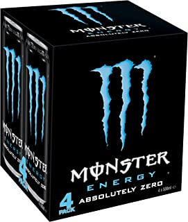 Monster Absolute Zero 4 x 500ml Cans