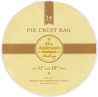 "Mrs. Anderson's Baking Easy No-Mess Pie Crust Maker Bag Pie Crust Bag, 14"" 14"" Clear"
