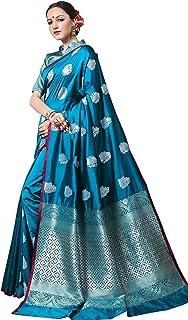 GlowSilk Women's Saree (VD-7354-Blue-topSarees)