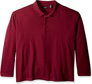 Clementine 女孩 Big Ultc-8542 长袖 Whisper Piqué Polo 衫