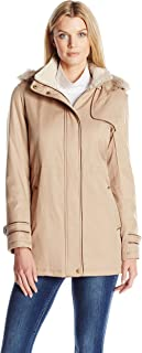 Women's Hooded Parka Anorack with Sherpa
