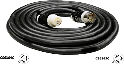 CS6365C to CS6364C Extension Cable - 50A,125/250V, 6/4 SOOW Heavy Duty Industrial Cable (25 Ft.)