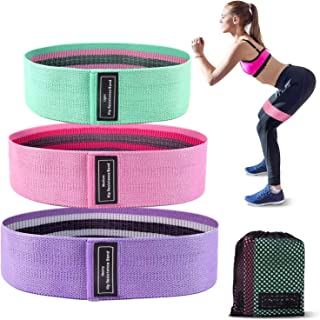 TURN RAISE Resistance Bands for Legs and Butt Exercise Bands- 3 Levels Workout Bands,Non Slip Elastic Booty Bands,Thick Hi...