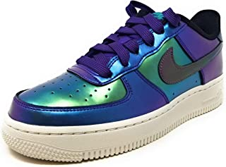 Air Force 1 Lv8 (gs) Big Kids, Court Purple/Rush Pink-neptune Green, Size 6Y M US