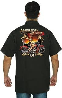 SHORE TRENDZ Men's Mechanic Work Shirt American Dream USA Pride