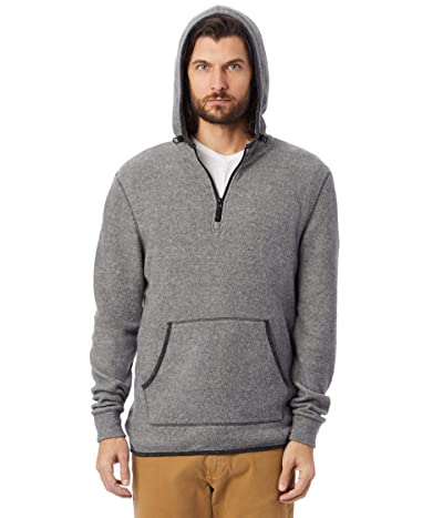 Alternative Eco-Teddy Outdoor 1/4 Zip Hoodie (Eco Grey/Eco Black) Men