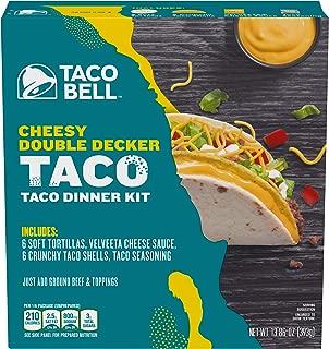 Taco Bell Cheesy Double Decker Taco Dinner Kit, 13.86 oz Box