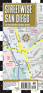 Streetwise San Diego Map: Laminated City Center Map of San Diego, California (Michelin City Plans) [Idioma Inglés]