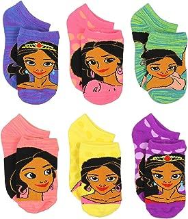 Princess Elena of Avalor Girls 6 pack Socks (Toddler/Little Kid/Big Kid)