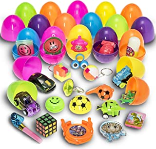 Prextex Toy Filled Easter Eggs Filled with Mini Toys and Trinkets Each Egg Contains a Different Toy