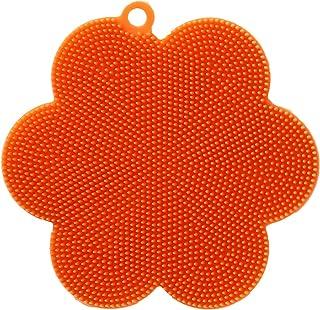 傷をつけずに 油汚れ スッキリ ferio シリコン キッチンブラシ オレンジ F8561-m