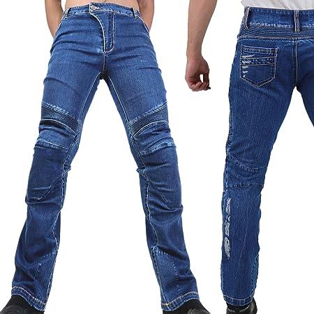 Motorradhose Jeans Ranger Leicht Dünn Herren Sommer Textil Jeanshose Slim Fit Motorrad Textilhose Männer Eng Stretch Blau S Auto