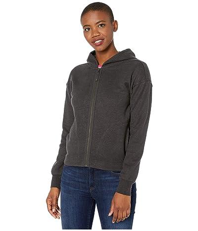 Prana Cozy Up Zip-Up Jacket (Charcoal Heather) Women