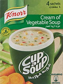 Knorr Cup-A-Soup Cream of Vegetable, 4 x 18 gm