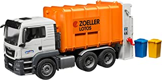 Bruder Man Tgs Rear Loading Garbage Orange Vehicle