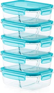 Pyrex Mealbox Bento Box divided glass food storage containers, 10-Piece