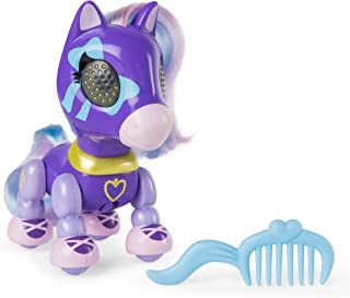 Zoomer Zupps Pretty Ponies, Lilac, Series 1 Interactive Pony with Lights, Sounds and Sensors