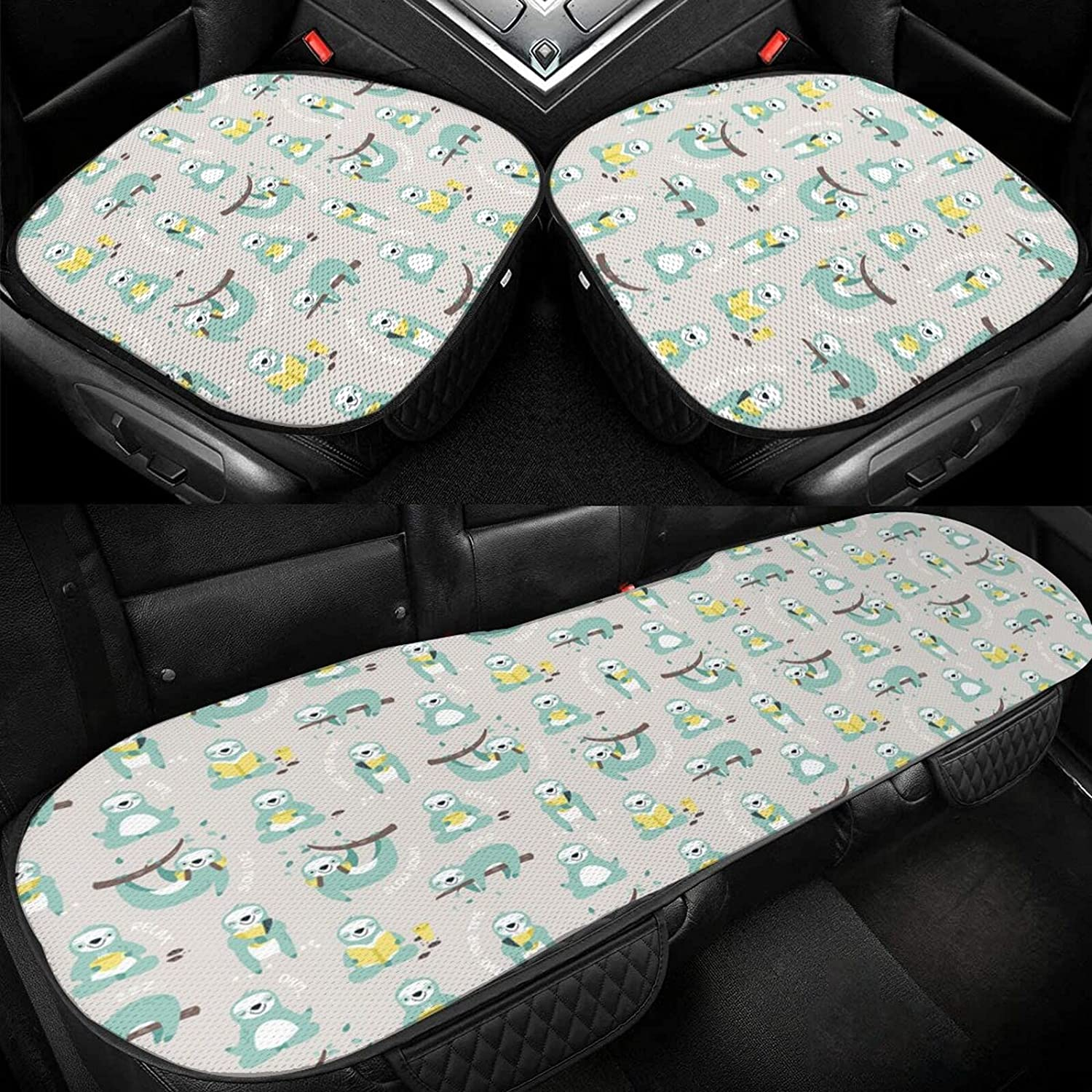 Cute Sloths Car Oakland Mall Be super welcome Seat Cushion Driver Silk Cover Pad Ice