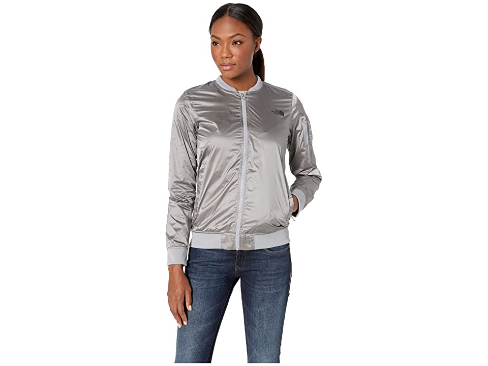The North Face Meaford Bomber Jacket (Shiny Mid Grey) Women