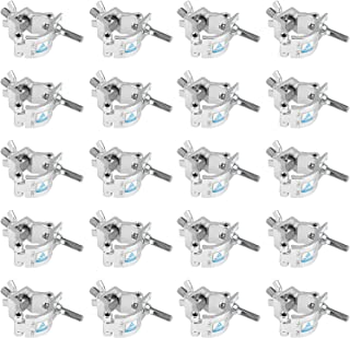 20 Pack Small Clamps 1.26-1.38 Inches for DJ Lighting Duty 165lb Aluminum Alloy Stage Light Clamp Fit 32-35mm OD Pipe,Threaded Bolt 10mm-TUV Certificated