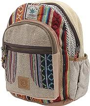 KayJayStyles Handmade Natural Hemp Nepal Backpack Purse for Women & Girls Small Lightweight Daypack (DayPack5)