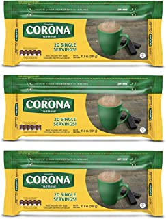 Corona Sweet Traditional Chocolate Bars | Resealable Packaging | No Cholesterol or Trans-Fat | Delicious On-The-Go Treat |...