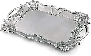 Arthur Court Designs Aluminum Fleur-De-Lis Rectangle 19
