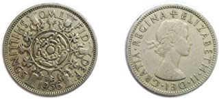 Stampbank Coins for Collectors - Circulated British 1956 Florin / Two Bob Bit / 2 Shillings Coin / Great Britain
