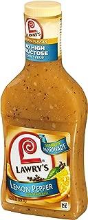 Lawry's 30 Minute Marinade Lemon Pepper, 12 oz (Pack of 12)