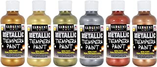 Sargent Art 17-5099, 6 Colors 8 oz Metallic Tempera Paint Set, 6 Piece