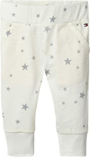 Tommy Hilfiger Stars Printed Baby Pants for Newborn Baby, Marshmallow, 0-1 Month