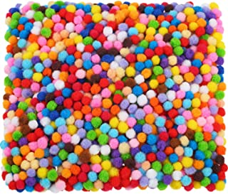 Shappy 2000 Pieces 6 mm Pom Poms for Craft Making, Hobby Supplies and DIY Creative Crafts Decorations (Multicolored)