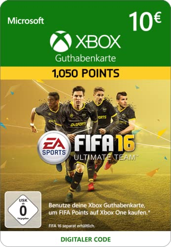 Xbox Live - 10 EUR FIFA 16 Ultimate Team Guthaben [Xbox Live Online Code] [PC Code]