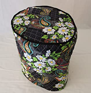Simple Home Inspirations Quilted Cover Compatible with Keurig Coffee Systems, Double Face Cotton Quilted, Paisley Daisy